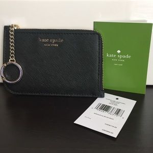 New Kate Spade Cameron Zip Card Holder Keychain